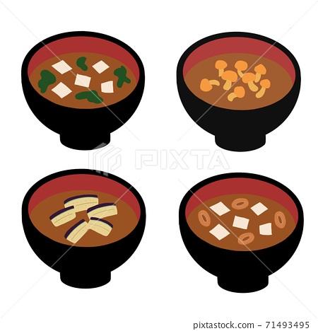 Illustration of miso soup 71493495
