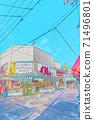 [動漫風格]函館早市周邊的北海道函館風光 71496801