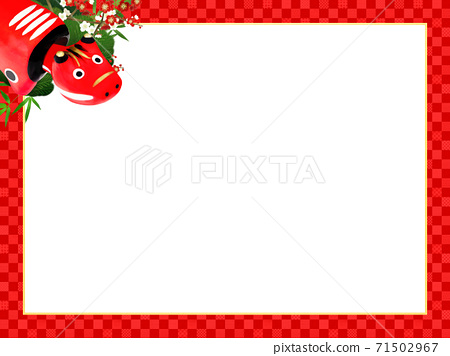 빨강 모든 것이 빨간 체크 무늬 프레임 - 여러 종류가 있습니다 71502967