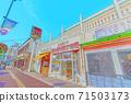 [動漫風格]函館早市周邊的北海道函館風光 71503173
