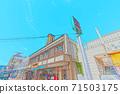 [動漫風格]函館早市周邊的北海道函館風光 71503175