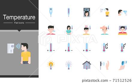 Temperature icons. Flat design.  71512526