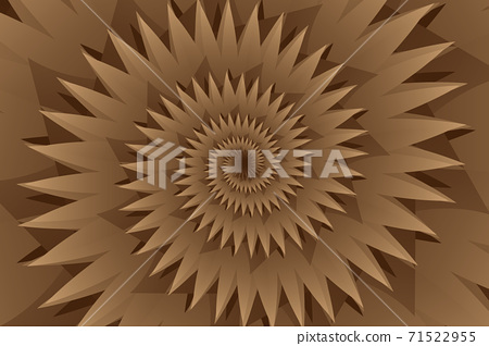 Star brown abstract vector pattern, Concentric star shapes - brown 71522955
