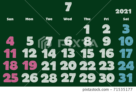 2021年7月日曆 71535177