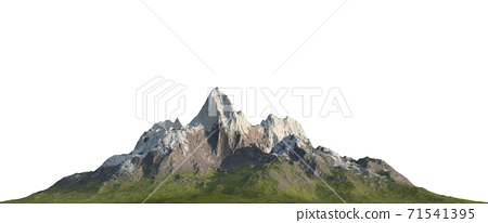 Snowy mountains Isolate on white background 3d illustration 71541395