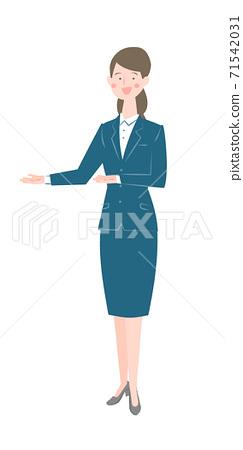 一個西裝的女人 71542031