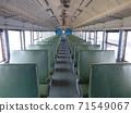 Pingtung, Taiwan-06 / 03 / 2013 : 일반 대만 열차 좌석 71549067