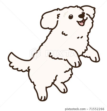馬丁斯跳奶油白色與主線的簡單和可愛的插圖 71552266