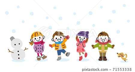 Winter children 71553338
