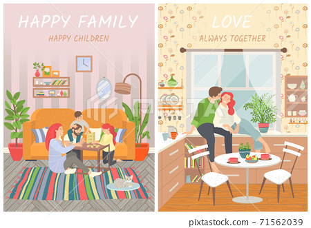 Happy Family and Children Love, Always Together 71562039