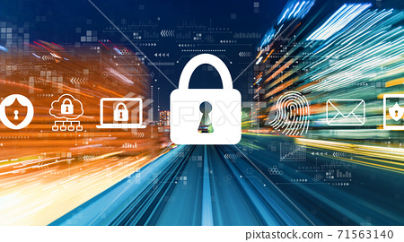 Internet network security concept with high speed motion blur 71563140