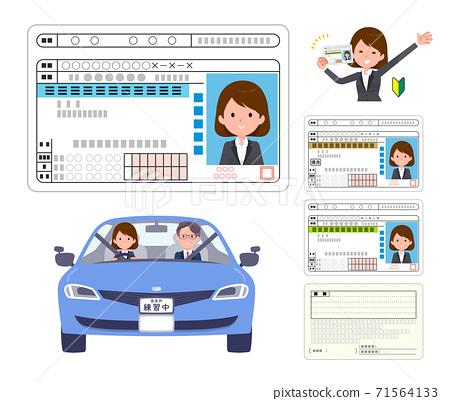 flat type business women_Drivers license 71564133