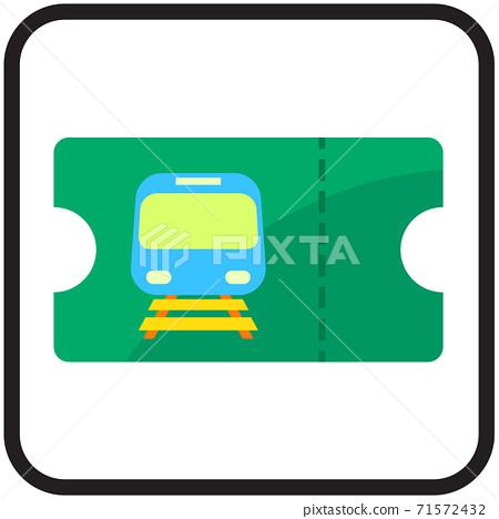 train ticket flat icon design 71572432