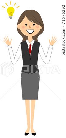一個穿著鼓舞人心的製服的女人 71576292