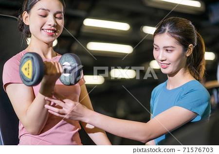 Women workout, gym 71576703