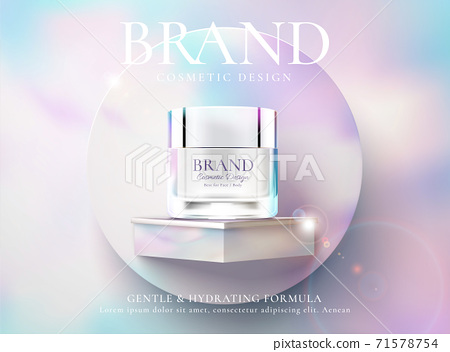 Cosmetic cream product ads 71578754