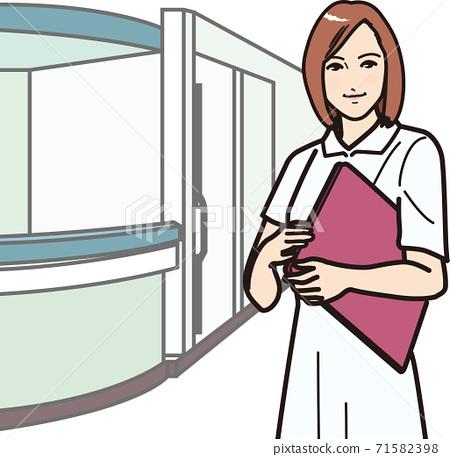 帶文件B的微笑護士① 71582398