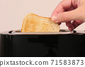 Close up of toaster with two slices of toast 71583873