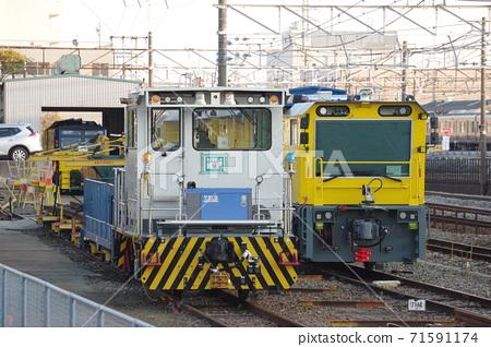 JR West track maintenance vehicle (rail grinder and track motor car) 71591174