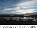 Taiwan's beach, sunset at dusk. 71595897