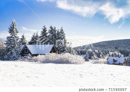 Orlicke Mountains in winter, Czech Republic 71598897