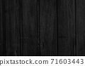 Abstract black background with wooden boards 71603443