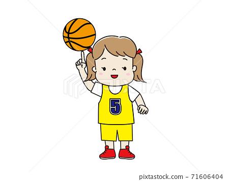 穿制服和打籃子的女孩 71606404