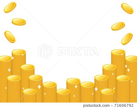 一堆堆的金幣框架有多種變體 71606792