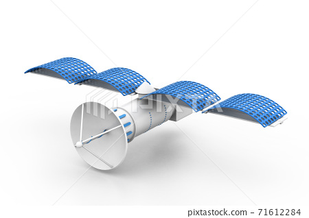 Satellite on white background. 71612284