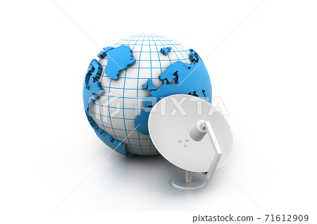 satellite dish receiver. 71612909