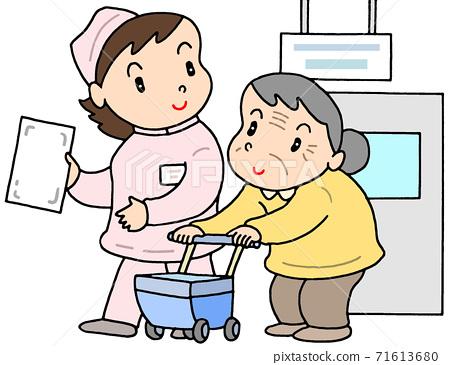 護理對象和護士 71613680