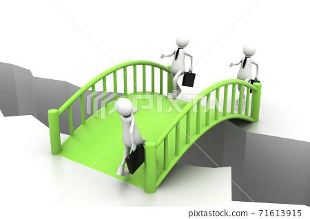 Bridge crisis. (Business concept). 71613915