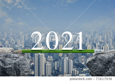 Business success strategy planning concept, Happy new year 2021 calendar cover 71617036