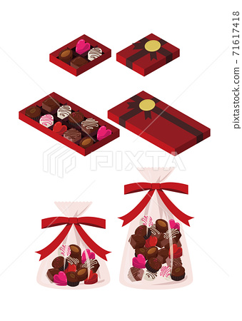 什錦巧克力插圖集 71617418