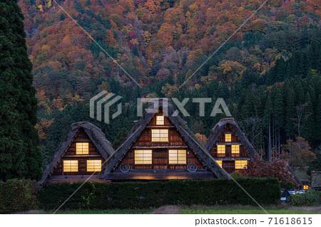 日本的原始風景《岐阜縣》白川鄉 71618615