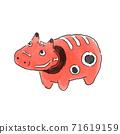 """推薦用於新年問候,新年賀卡,新年特賣等!"""" Zodiac_Akabeko""""的插圖 71619159"""