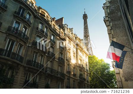 building in Paris near Eiffel Tower 71621236