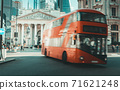 Royal Exchange, London With Red bus 71621248