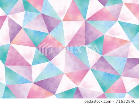 Geometric pattern like watercolor crystal 71632946