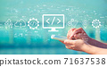 Web development concept with smartphone 71637538