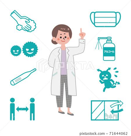 감염증 대책 세트 71644062