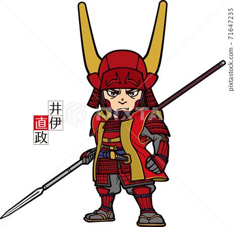 Naomasa Ii,手持長矛,朝前[3頭] 71647235