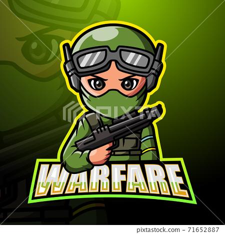 Warfare mascot esport logo design 71652887