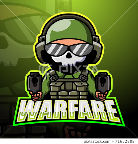 Warfare mascot esport logo design	 71652888