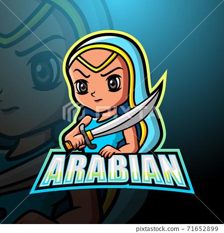 Arabian girl mascot logo design 71652899