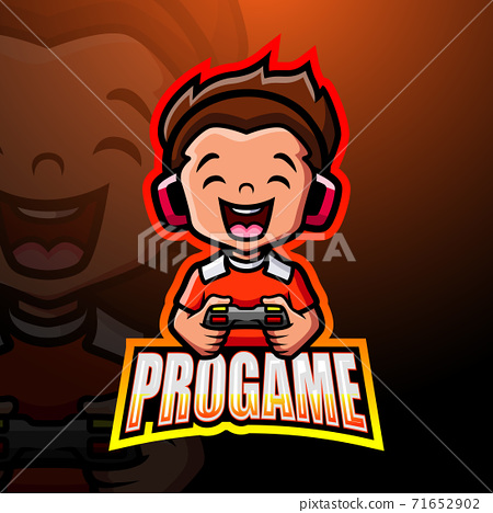 Pro gamer mascot esport logo design	 71652902