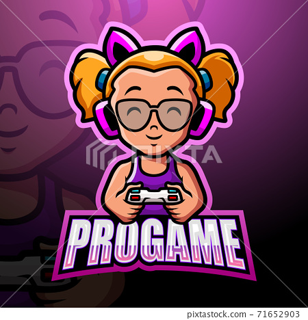 Pro gamer mascot esport logo design 71652903