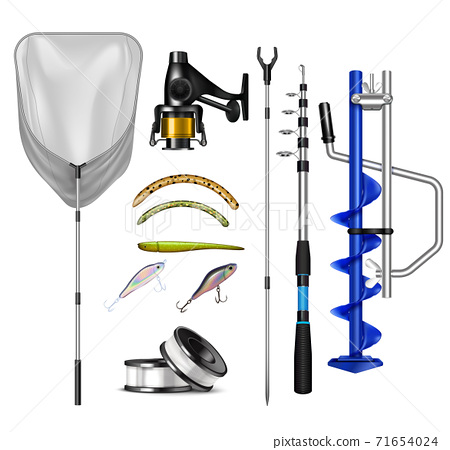 Realistic Fishing Equipment Collection 71654024