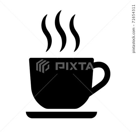 카페 아이콘 픽토그램 71654311