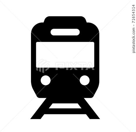 아이콘 기차 교통 71654314